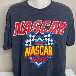 Vintage nascar cafe t shirt size XL black